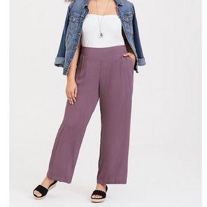 Torrid Mauve Purple Gauze Wide Leg Pants
